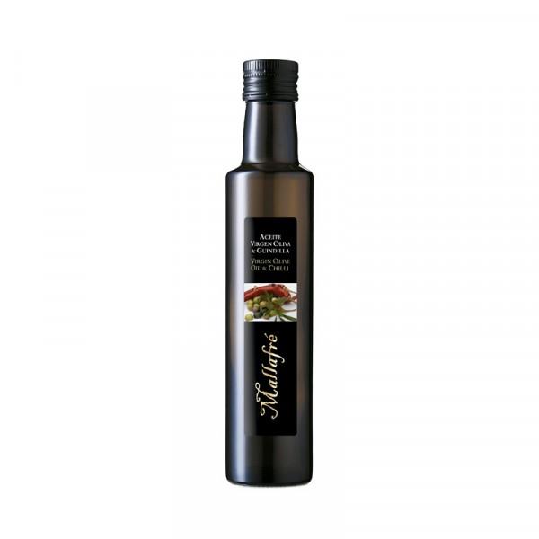 Aceite virgen de oliva y Guindilla - Botella vidrio 250 ml