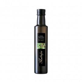 Huile d'olive-basilic bouteille verre 0,25 L
