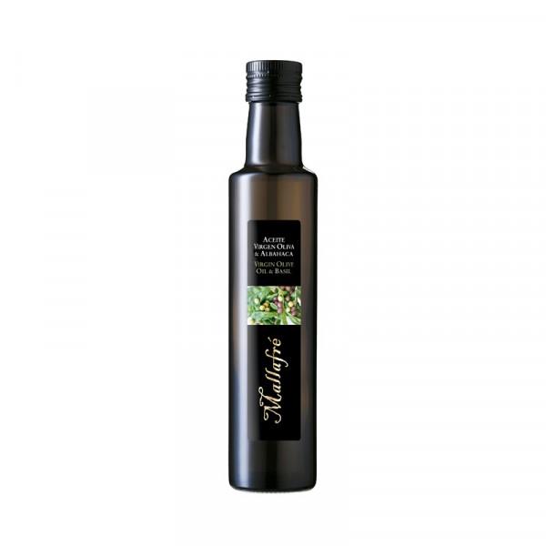 Aceite virgen de oliva y Albahaca - Botella vidrio 250 ml