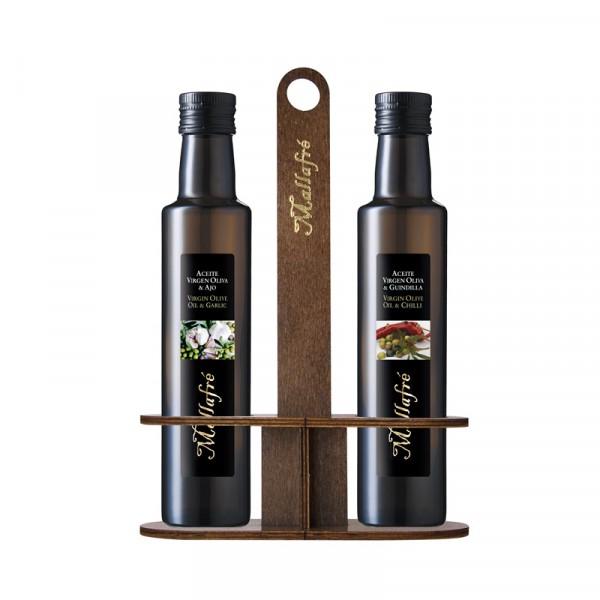 Oli d'Oliva Verge aromatitzat - Ampolla vidre de 250 ml + combo
