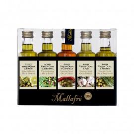 Aceite virgen de oliva aromatizado -  Lote de 5 botellines de vidrio de 40 ml
