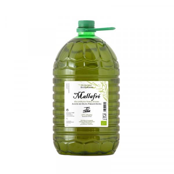 Aceite virgen de oliva ecológico-  Garrafa de plástico de 5L