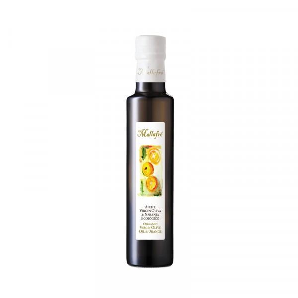 Aceite virgen de oliva aromatizado ecológico Naranja - Botella de vidrio de 250ml