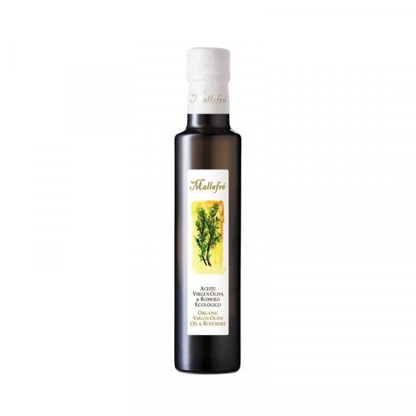 Aceite virgen de oliva aromatizado ecológico Romero- Botella de vidrio de 250ml