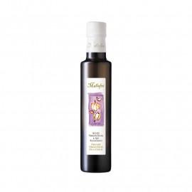 Aceite virgen de oliva aromatizado ecológico Ajo - Botella de vidrio de 250ml