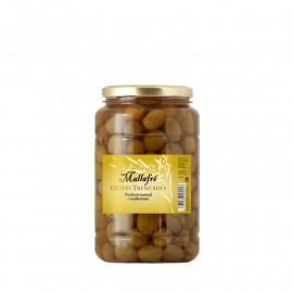 Olives arbequines trencades - Envàs de vidre 1 kg
