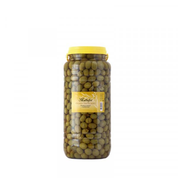 Olives arbequines trencades - Envàs de plastic 3 kg