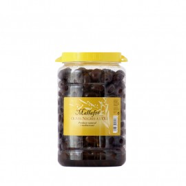 1 kg Container - Black Olives in oil