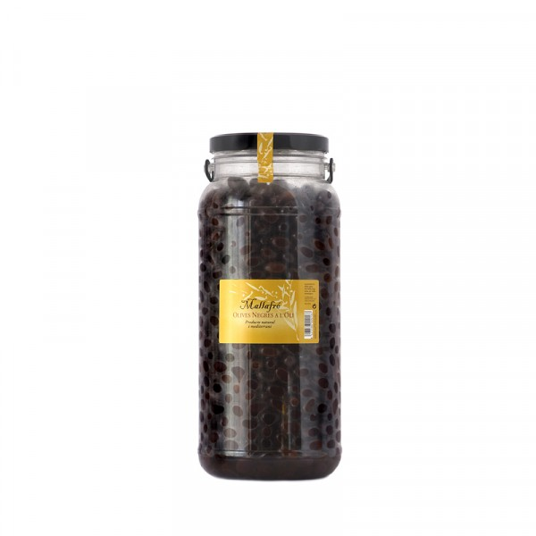 Aceitunas negras en aceite - Bote de vidrio de 3 kg
