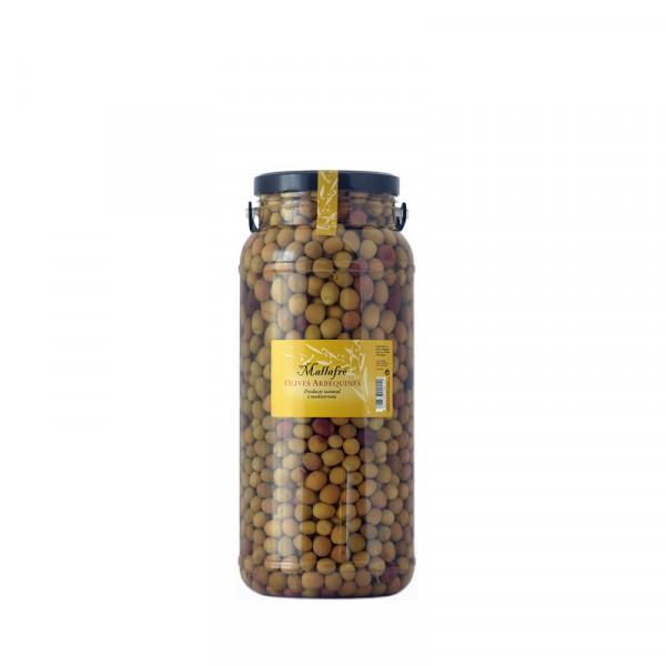 Aceitunas arbequinas - Bote de vidrio de 3 kg
